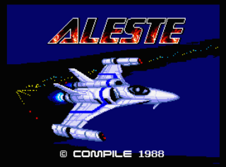 aleste title screen